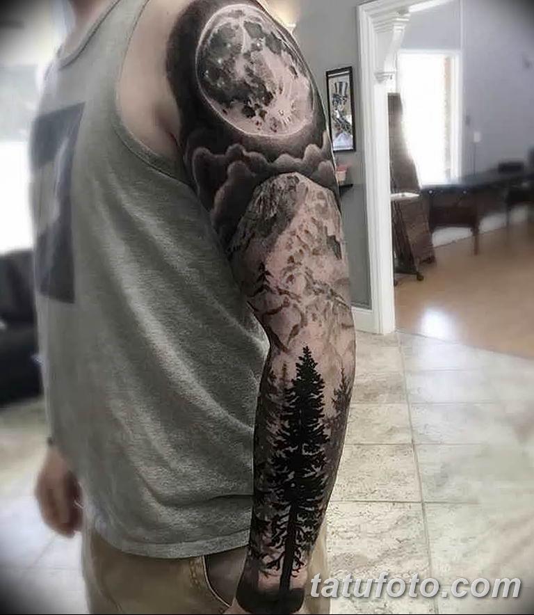 Фото тату рукав 11.06.2019 №040 - Tattoo sleeve - tatufoto.com