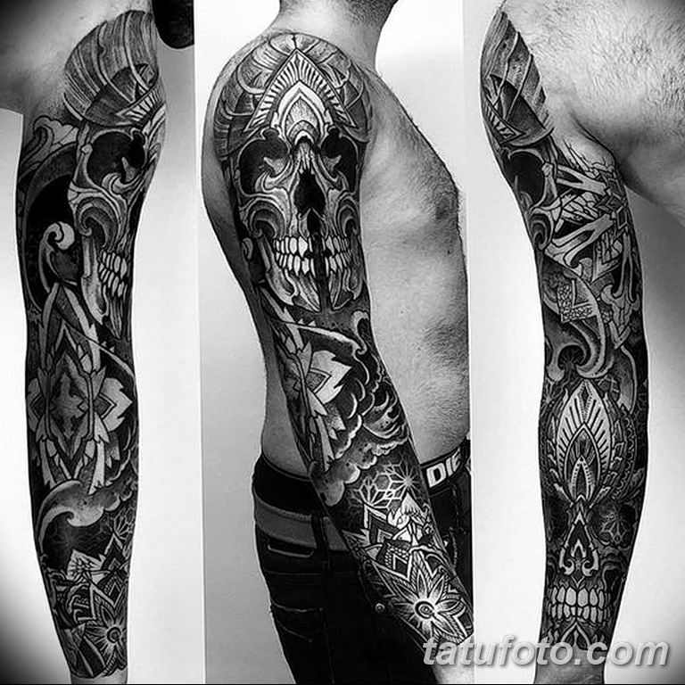 Фото тату рукав 11.06.2019 №043 - Tattoo sleeve - tatufoto.com