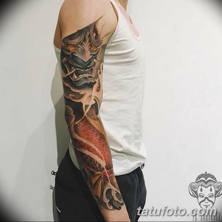 Фото тату рукав 11.06.2019 №051 - Tattoo sleeve - tatufoto.com