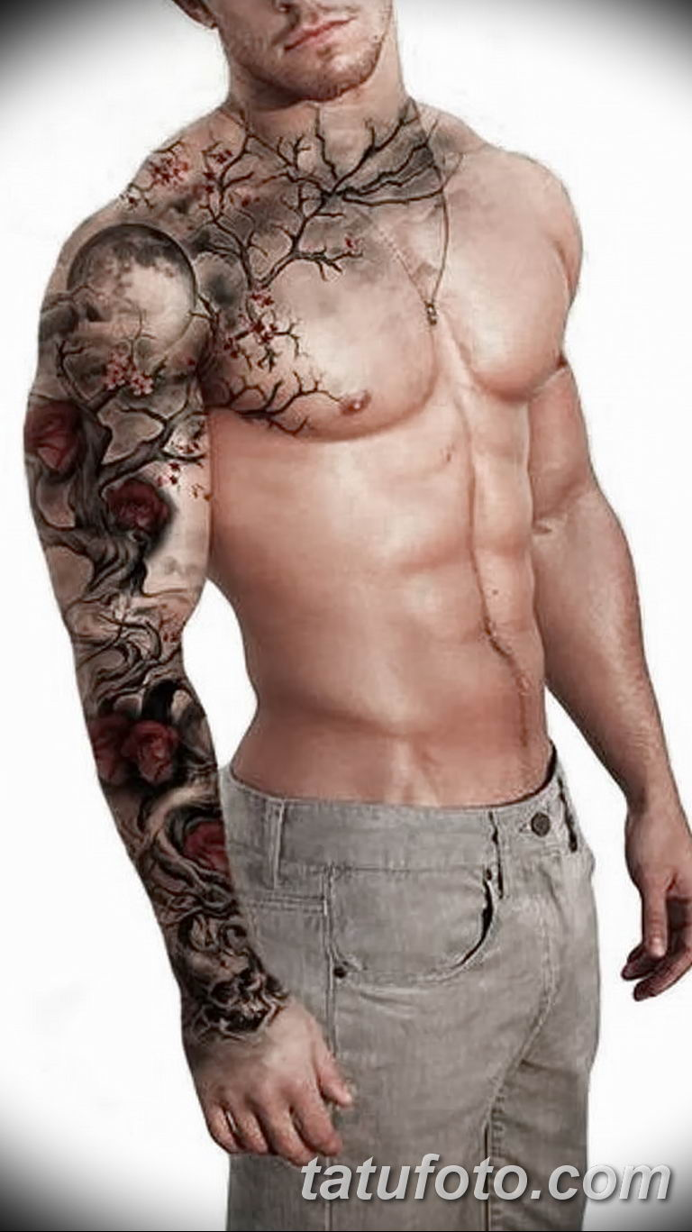 Фото тату рукав 11.06.2019 №052 - Tattoo sleeve - tatufoto.com