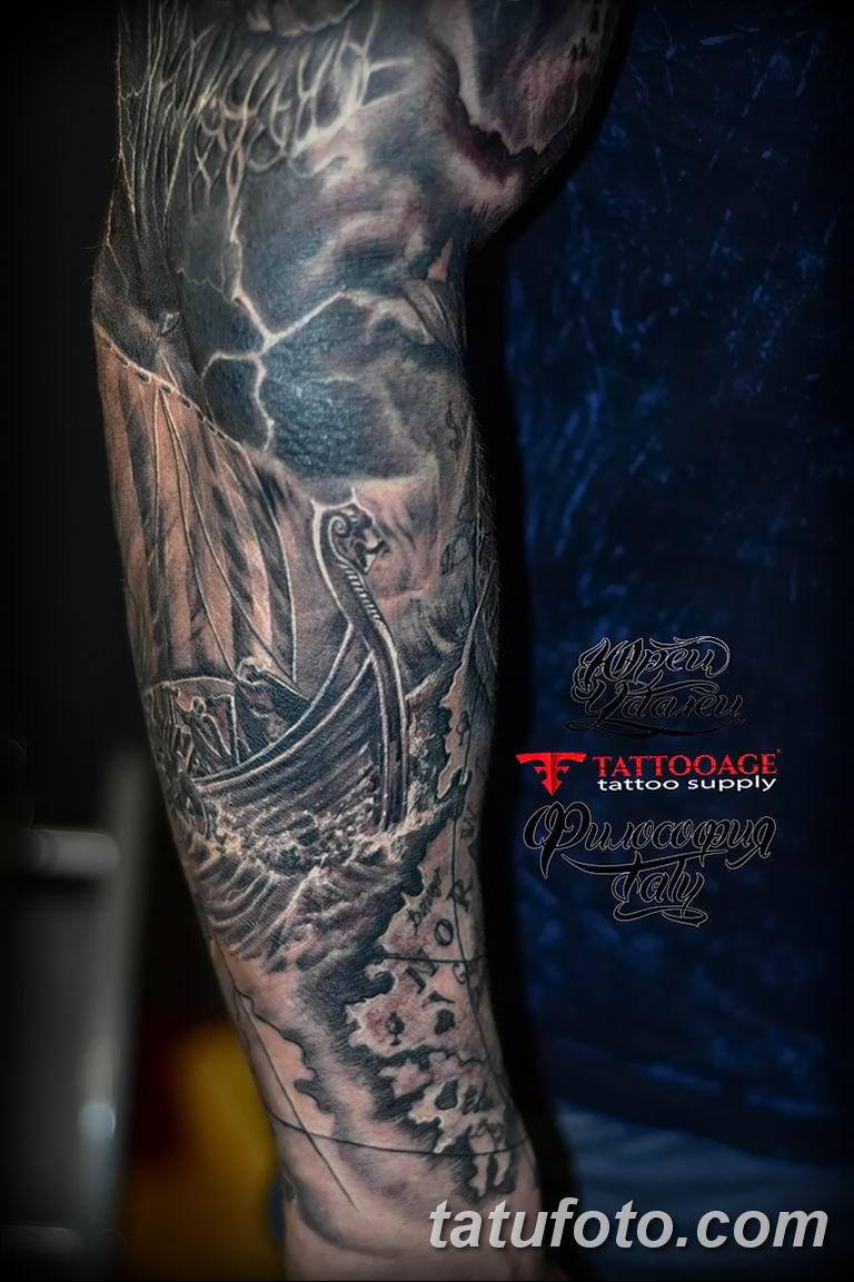 Фото тату рукав 11.06.2019 №055 - Tattoo sleeve - tatufoto.com