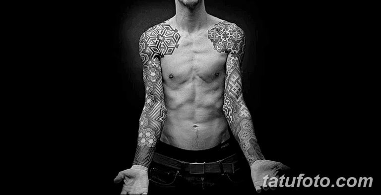Фото тату рукав 11.06.2019 №056 - Tattoo sleeve - tatufoto.com