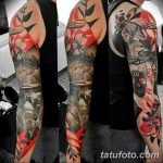 Фото тату рукав 11.06.2019 №062 - Tattoo sleeve - tatufoto.com