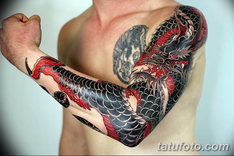 Фото тату рукав 11.06.2019 №065 - Tattoo sleeve - tatufoto.com