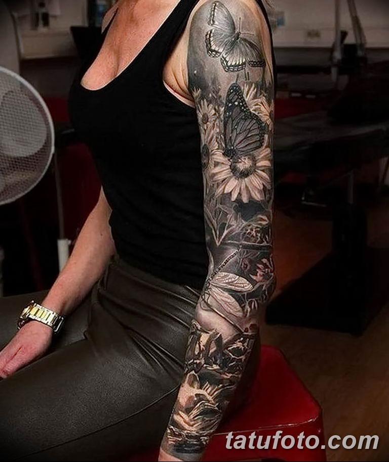 Фото тату рукав 11.06.2019 №066 - Tattoo sleeve - tatufoto.com