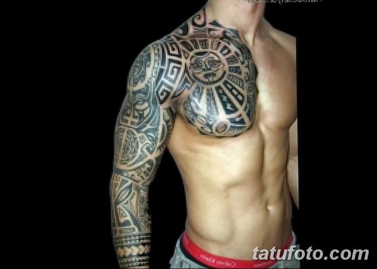 Фото тату рукав 11.06.2019 №069 - Tattoo sleeve - tatufoto.com