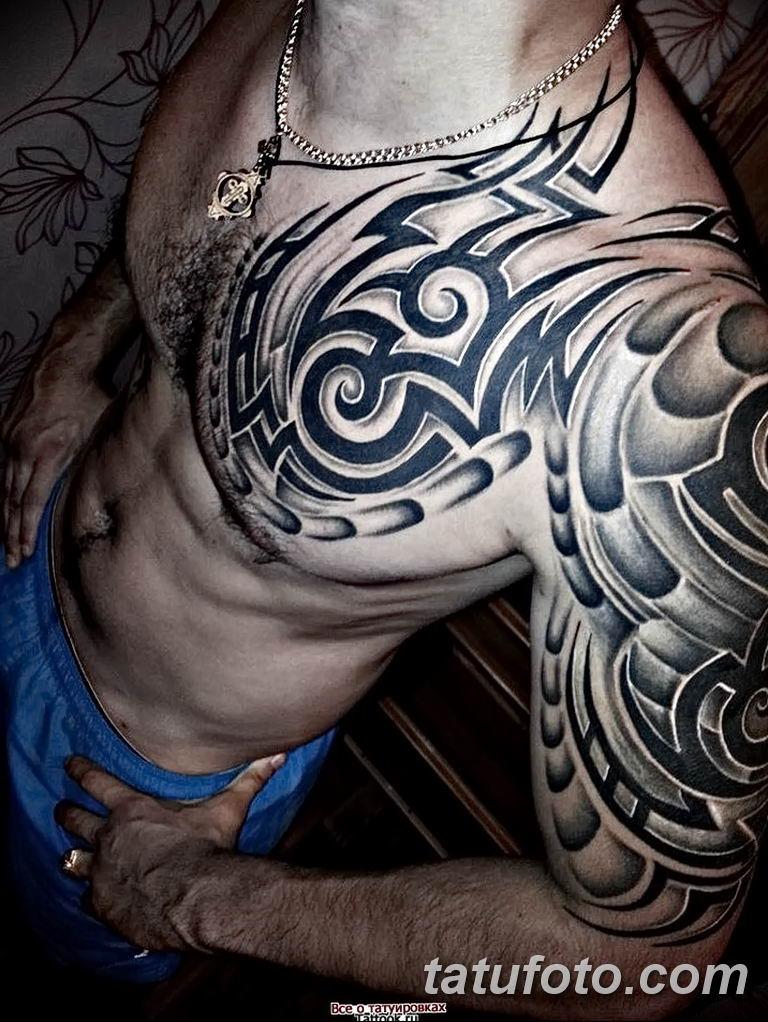 Фото тату рукав 11.06.2019 №074 - Tattoo sleeve - tatufoto.com