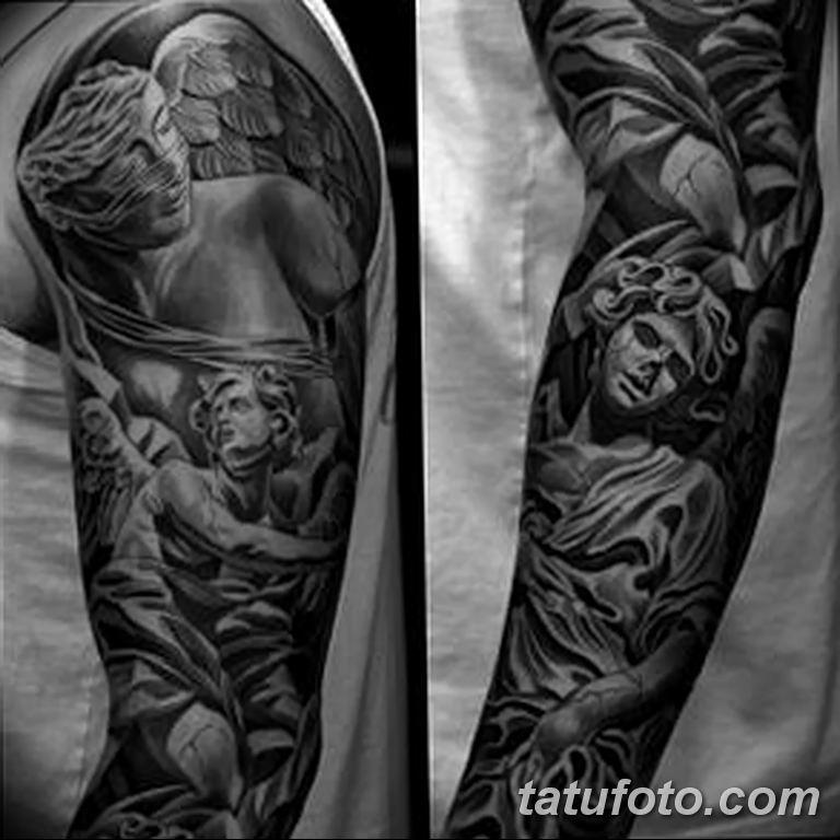 Фото тату рукав 11.06.2019 №081 - Tattoo sleeve - tatufoto.com