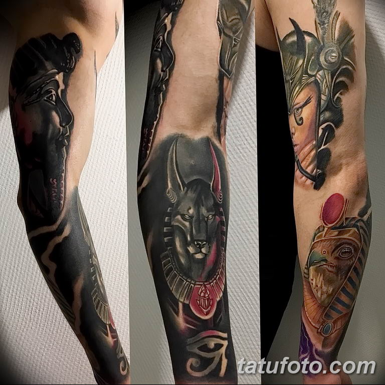 Фото тату рукав 11.06.2019 №087 - Tattoo sleeve - tatufoto.com