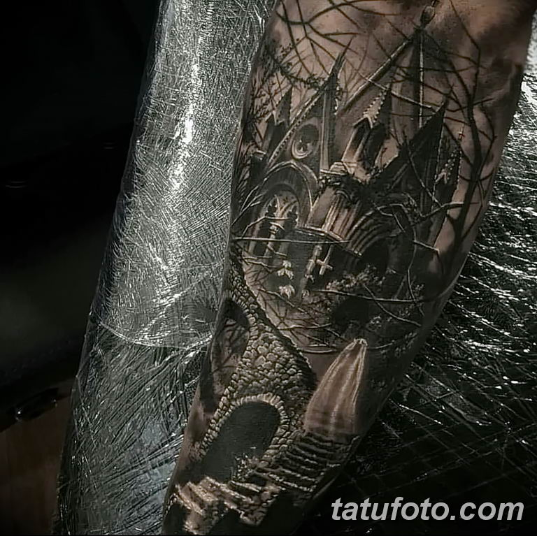 Фото тату рукав 11.06.2019 №093 - Tattoo sleeve - tatufoto.com