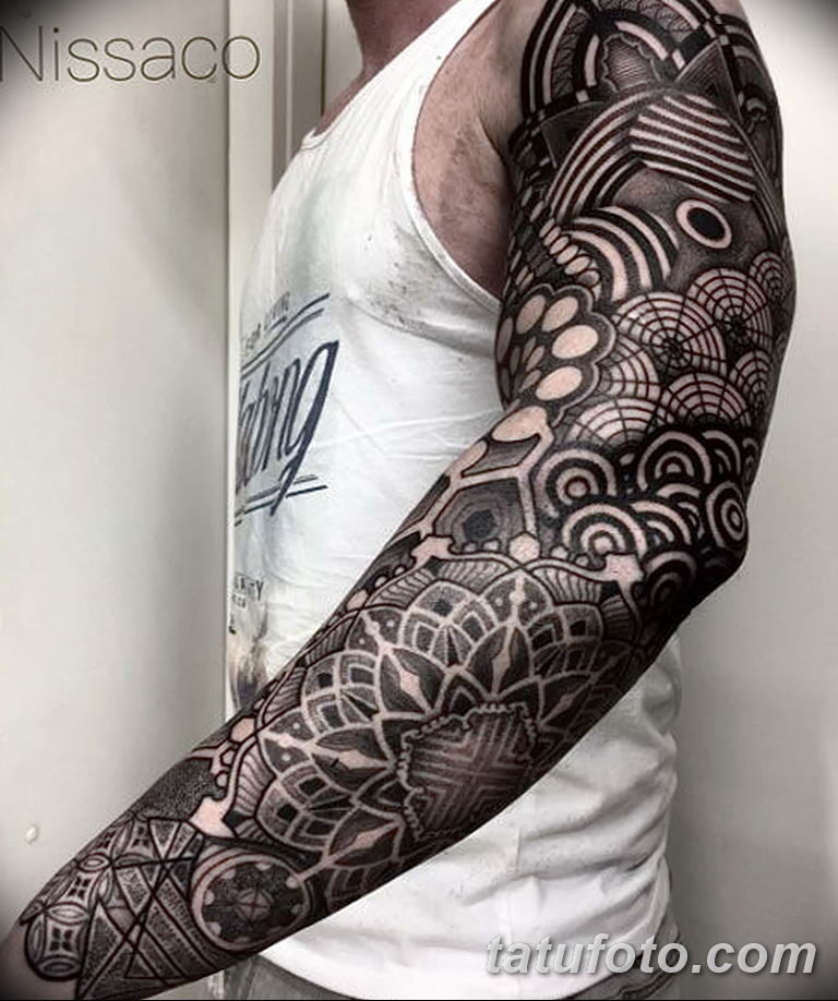 Фото тату рукав 11.06.2019 №094 - Tattoo sleeve - tatufoto.com