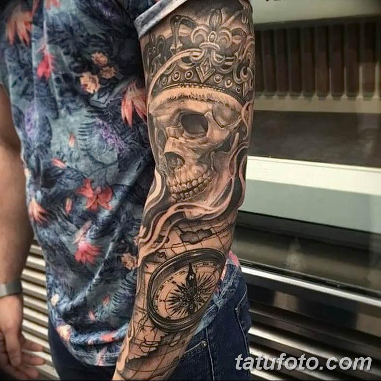 Фото тату рукав 11.06.2019 №097 - Tattoo sleeve - tatufoto.com