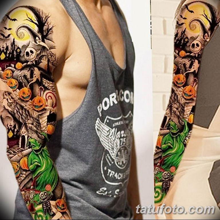 Фото тату рукав 11.06.2019 №107 - Tattoo sleeve - tatufoto.com