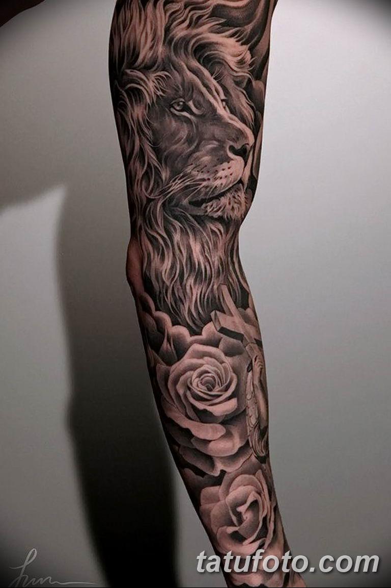 Фото тату рукав 11.06.2019 №112 - Tattoo sleeve - tatufoto.com