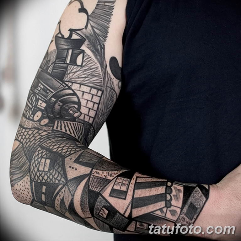 Фото тату рукав 11.06.2019 №123 - Tattoo sleeve - tatufoto.com