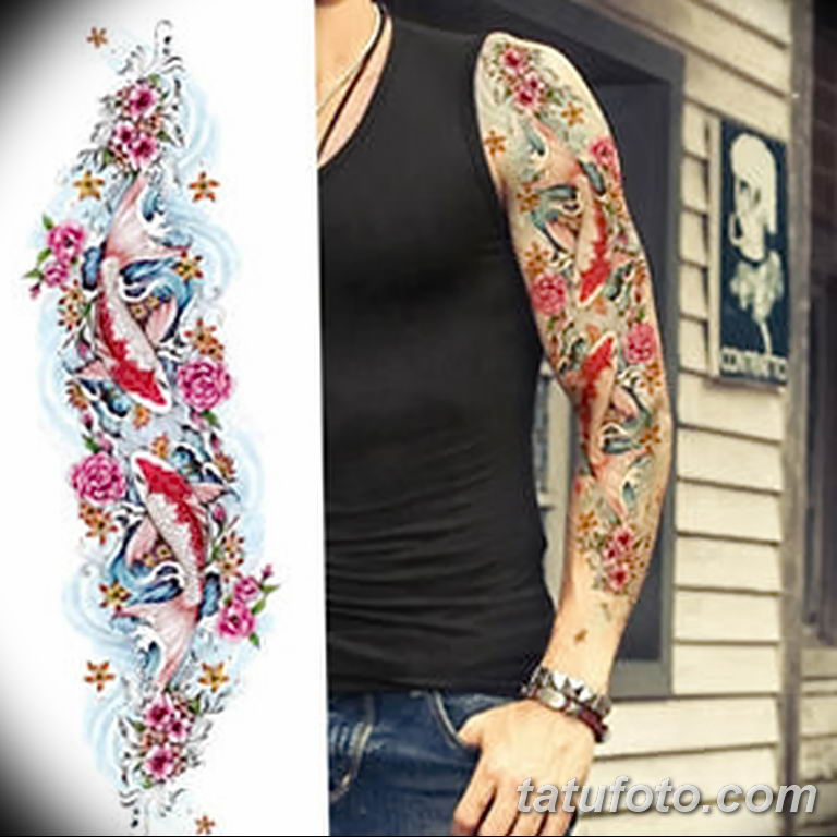 Фото тату рукав 11.06.2019 №131 - Tattoo sleeve - tatufoto.com