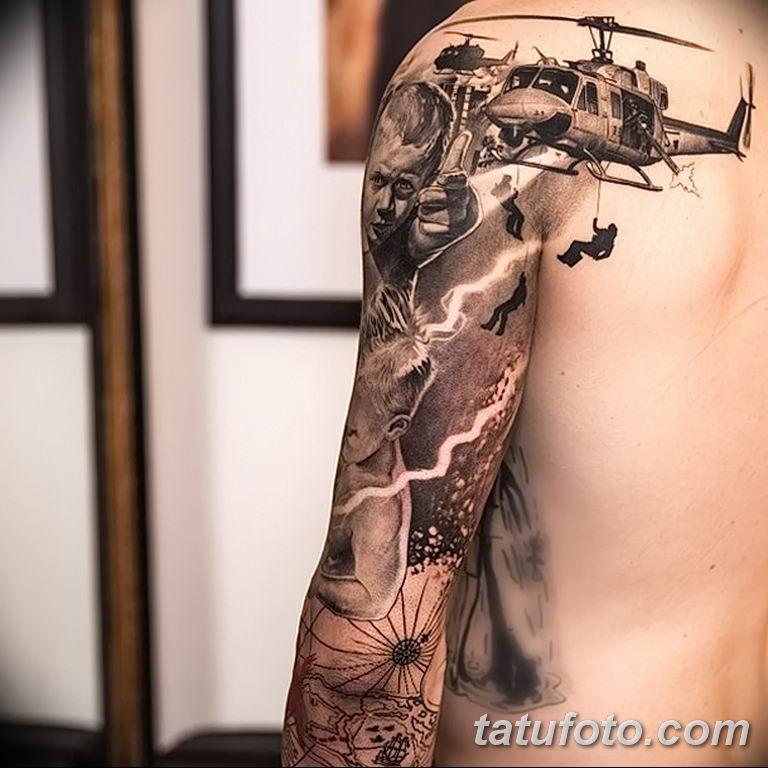 Фото тату рукав 11.06.2019 №139 - Tattoo sleeve - tatufoto.com