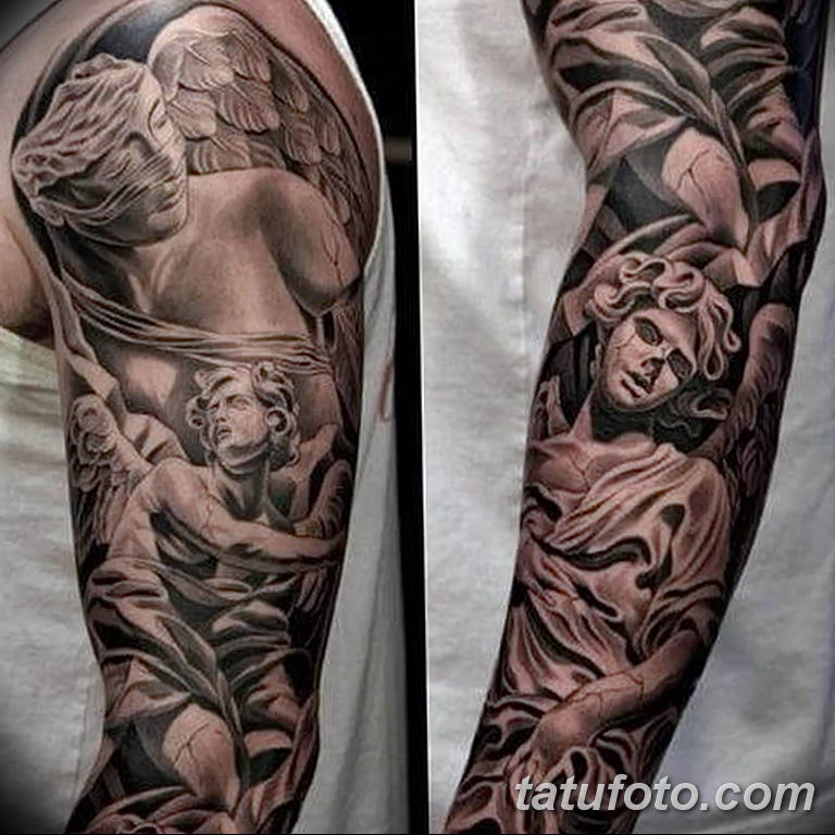 Фото тату рукав 11.06.2019 №149 - Tattoo sleeve - tatufoto.com