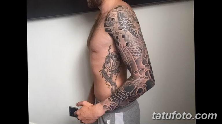Фото тату рукав 11.06.2019 №151 - Tattoo sleeve - tatufoto.com