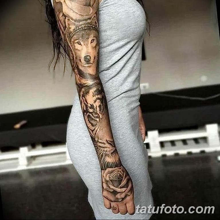 Фото тату рукав 11.06.2019 №160 - Tattoo sleeve - tatufoto.com