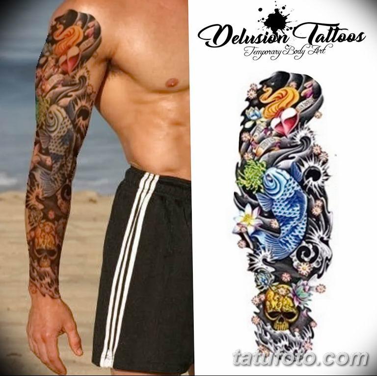 Фото тату рукав 11.06.2019 №174 - Tattoo sleeve - tatufoto.com
