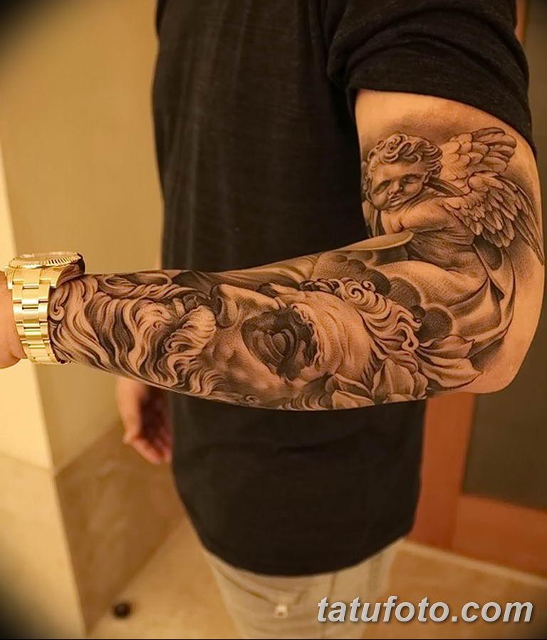 Фото тату рукав 11.06.2019 №178 - Tattoo sleeve - tatufoto.com