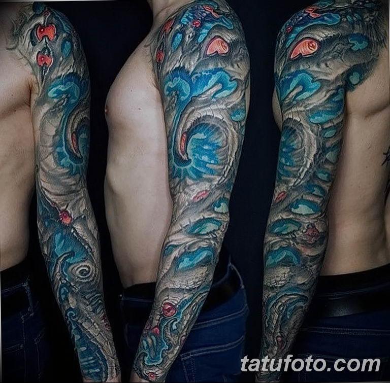 Фото тату рукав 11.06.2019 №185 - Tattoo sleeve - tatufoto.com