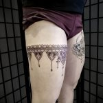 Фото тату чулки 05.06.2019 №025 - tattoo garter stockings - tatufoto.com