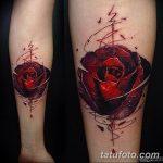 Фото черно красной тату 15.06.2019 №012 - black red tattoos photo - tatufoto.com