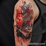 Фото черно красной тату 15.06.2019 №020 - black red tattoos photo - tatufoto.com