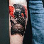 Фото черно красной тату 15.06.2019 №021 - black red tattoos photo - tatufoto.com