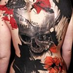 Фото черно красной тату 15.06.2019 №023 - black red tattoos photo - tatufoto.com