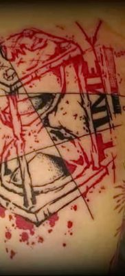 Фото черно красной тату 15.06.2019 №026 – black red tattoos photo – tatufoto.com