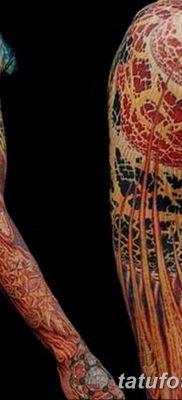 Фото черно красной тату 15.06.2019 №027 – black red tattoos photo – tatufoto.com