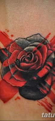 Фото черно красной тату 15.06.2019 №034 – black red tattoos photo – tatufoto.com