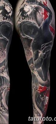 Фото черно красной тату 15.06.2019 №039 – black red tattoos photo – tatufoto.com