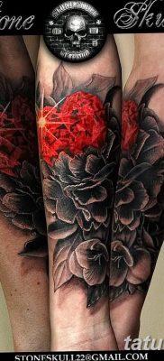 Фото черно красной тату 15.06.2019 №044 – black red tattoos photo – tatufoto.com