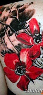 Фото черно красной тату 15.06.2019 №050 – black red tattoos photo – tatufoto.com
