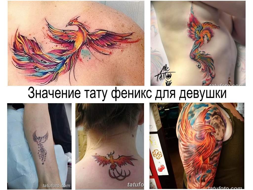 Значение тату феникс для девушки - информация про особенности рисунка и фото примеры готовых тату