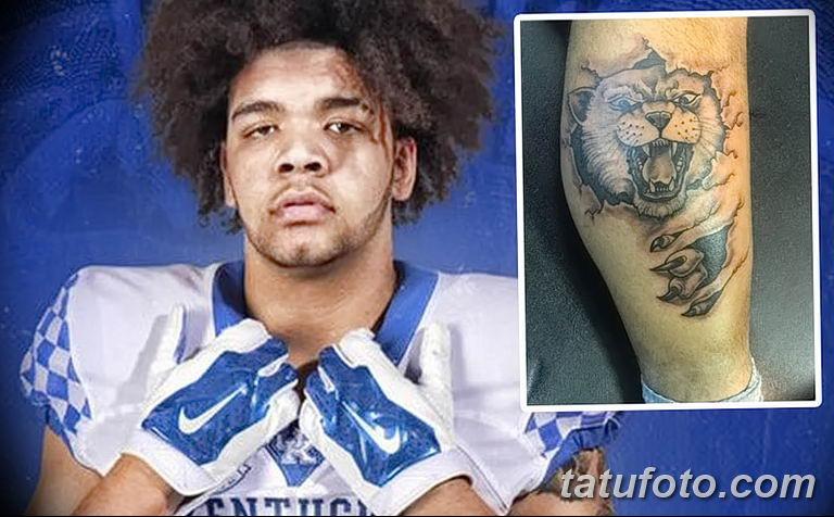Игрок в американский футбол из Кентукки сделал татуировку с диким котом - фото 1