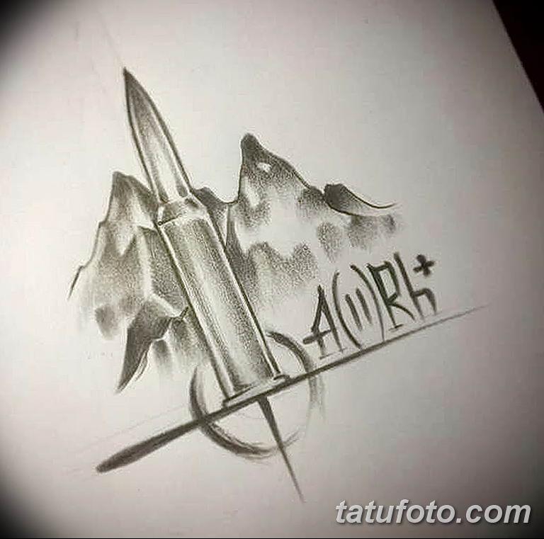 Фото Эскиз тату Группа крови 15.07.2019 №006 - Sketch tattoo blood type - tatufoto.com