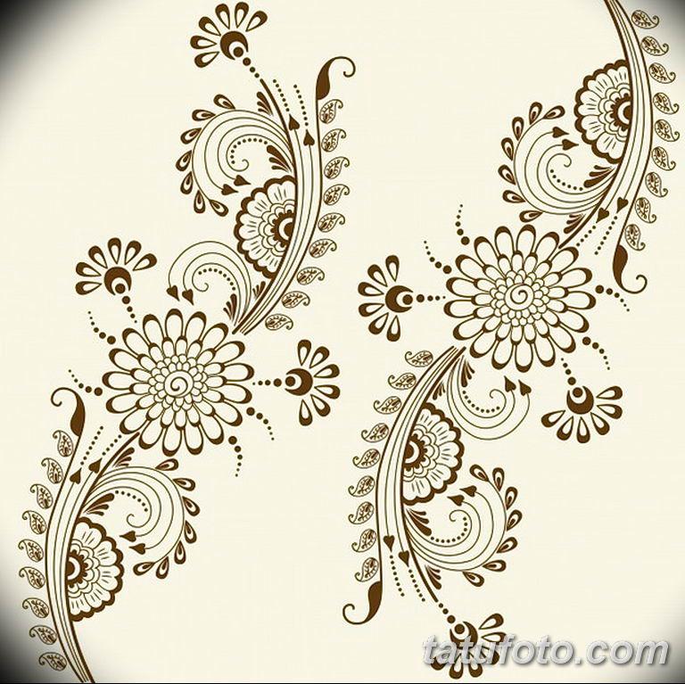 Фото индийский орнамент тату 10.07.2019 №001 - indian ornament tattoo - tatufoto.com