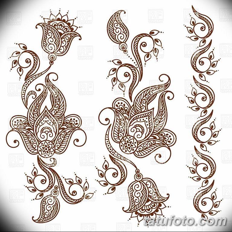 Фото индийский орнамент тату 10.07.2019 №003 - indian ornament tattoo - tatufoto.com