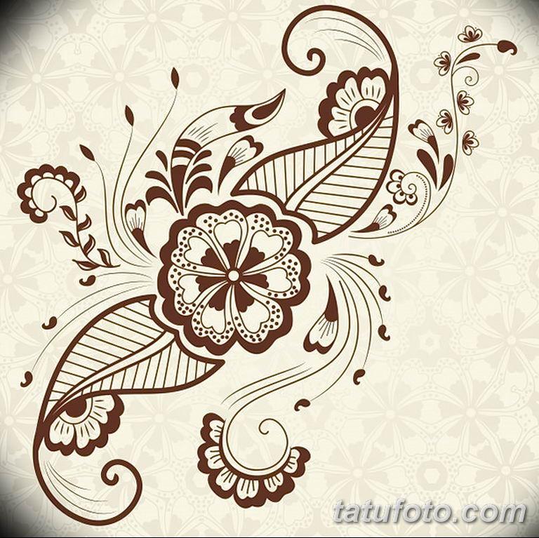 Фото индийский орнамент тату 10.07.2019 №004 - indian ornament tattoo - tatufoto.com