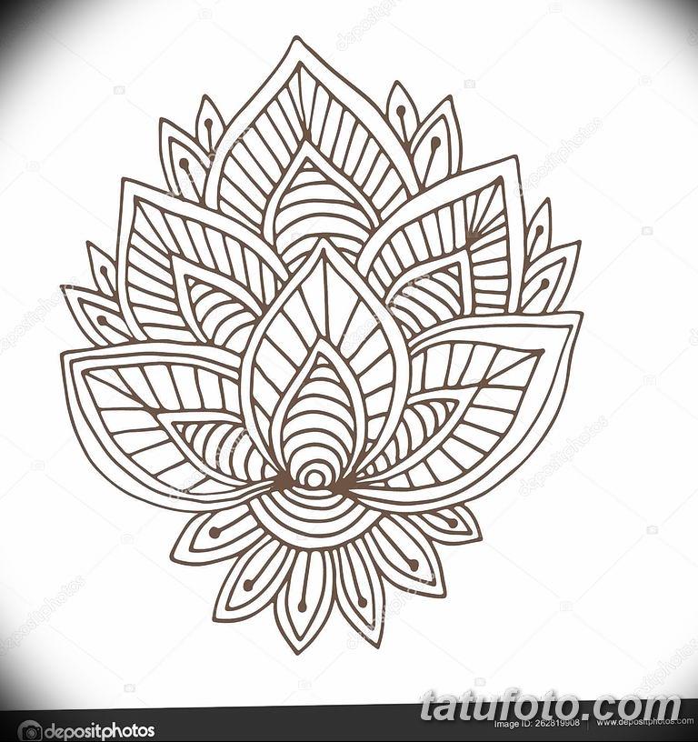 Фото индийский орнамент тату 10.07.2019 №006 - indian ornament tattoo - tatufoto.com