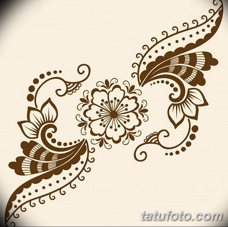 Фото индийский орнамент тату 10.07.2019 №007 - indian ornament tattoo - tatufoto.com