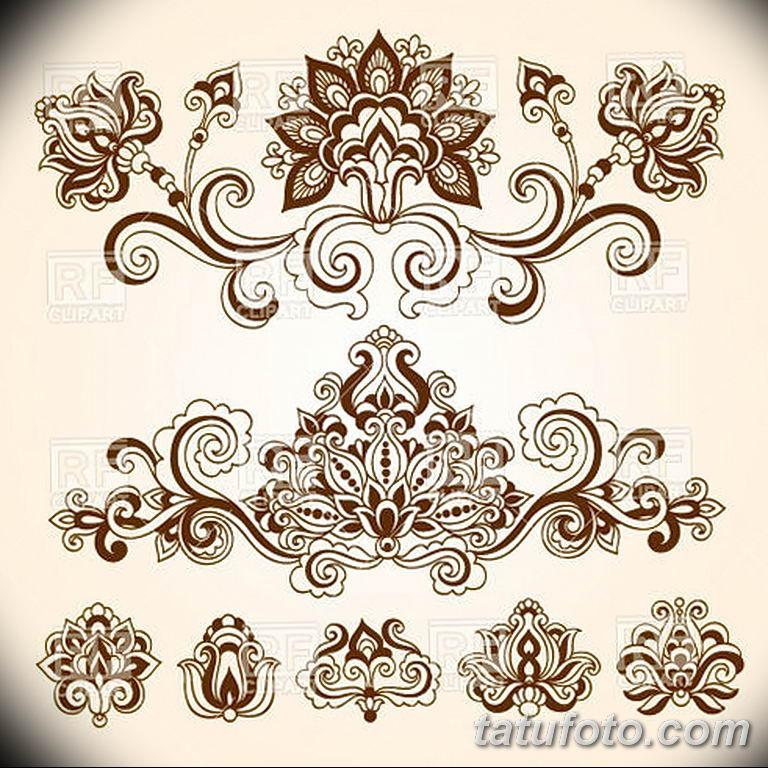 Фото индийский орнамент тату 10.07.2019 №008 - indian ornament tattoo - tatufoto.com