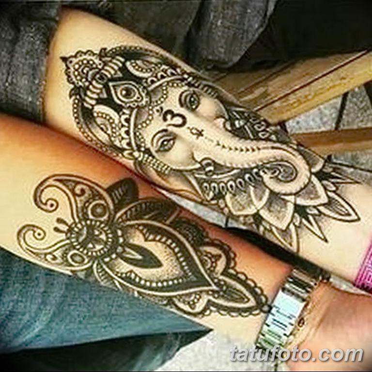 Фото индийский орнамент тату 10.07.2019 №010 - indian ornament tattoo - tatufoto.com