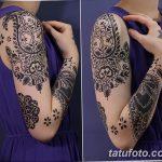 Фото индийский орнамент тату 10.07.2019 №012 - indian ornament tattoo - tatufoto.com