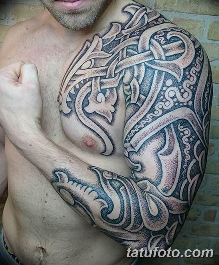 Фото кельтский орнамент тату 10.07.2019 №001 - celtic tattoo ornament - tatufoto.com